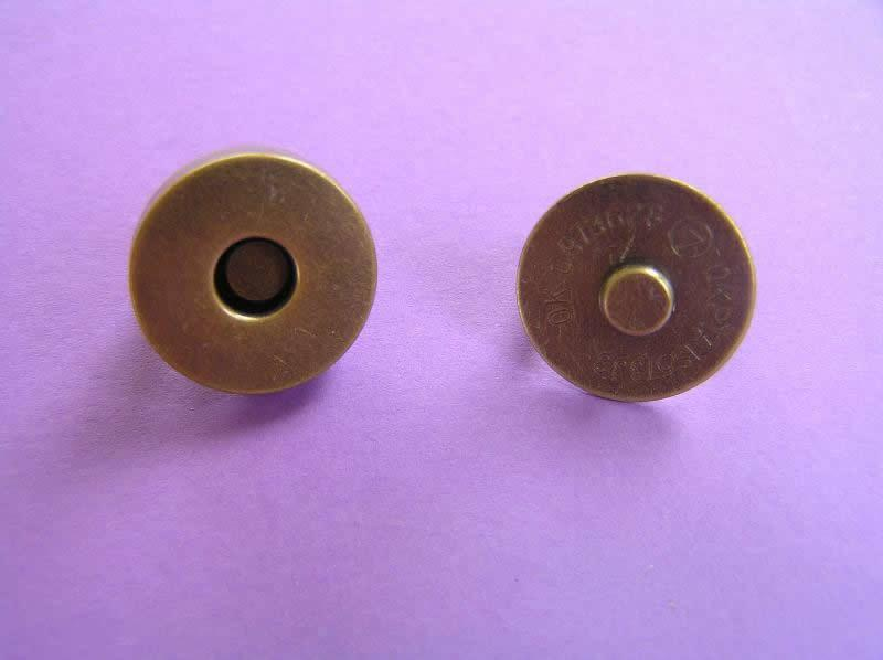Magnetic Bag Fastener Antique Brass