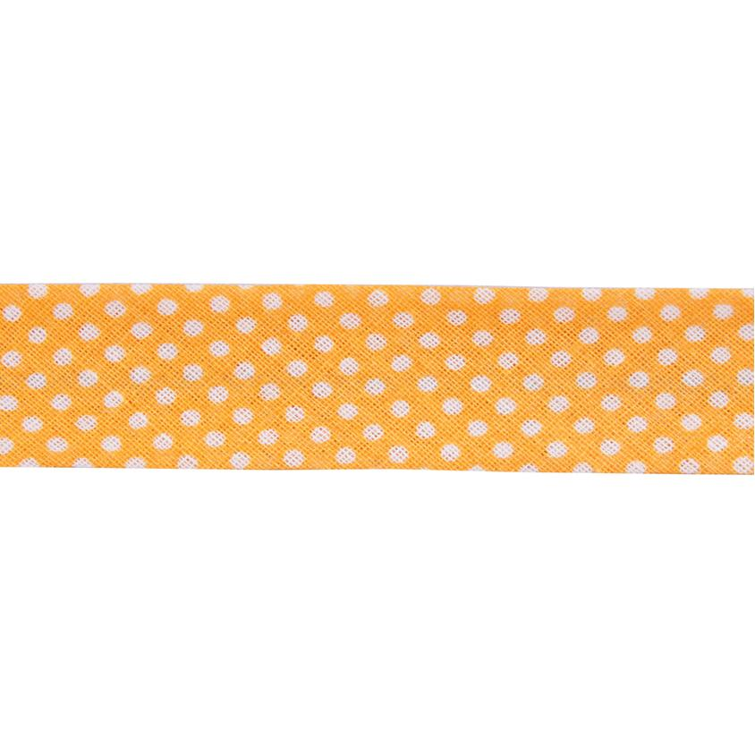 Dots Yellow Bias Binding