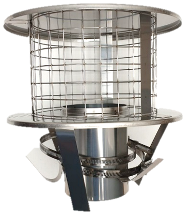 SiS Stainless Steel Pot Hanging Cowl - 6 inch