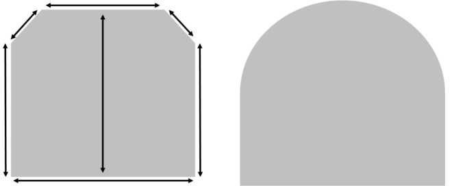 Example Image showing what Dimensions we need for a template | Stove Industry Supplies