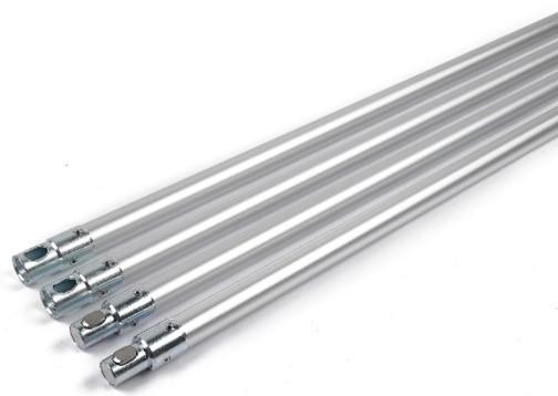 SnapLok 22mm x 1m Aluminium Rod with Chrome Steel Fittings