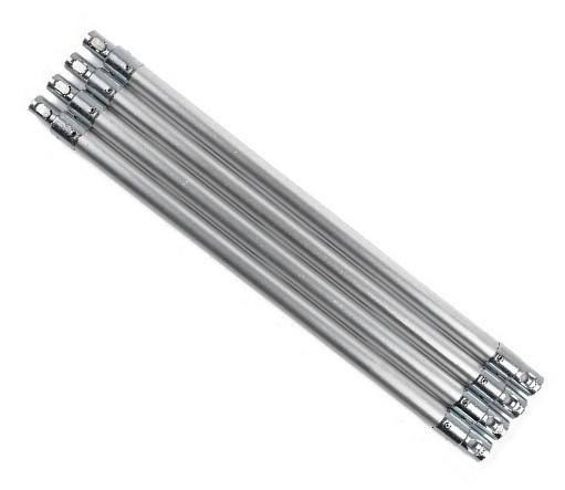 SnapLok 22mm x 45cm Aluminium Rod with Chrome Steel Fittings