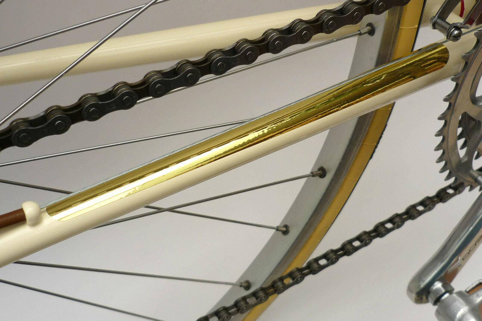 Repro Velobitz Peugeot Mirror Gold Vinyl Chainstay Protector