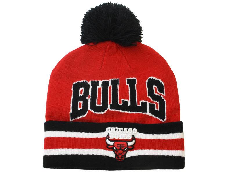 73031a46474 T Cuff Pom Knit Hat Chicago Bulls