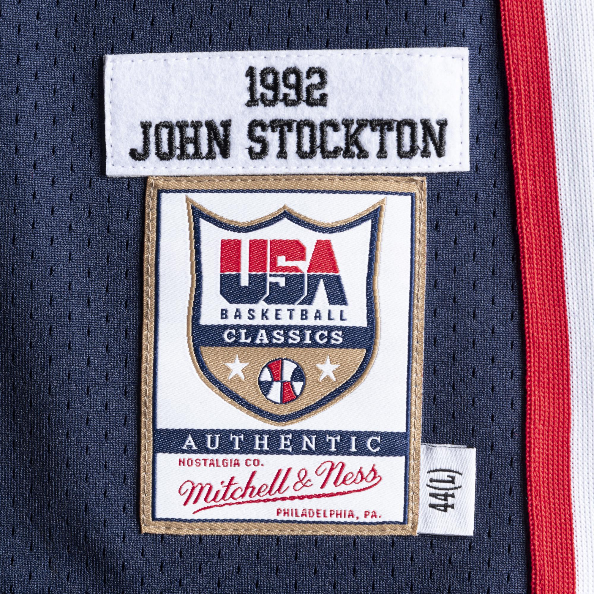 meet af9bc 168ce Mitchell & Ness | Team USA 1992 Authentic Jersey John Stockton