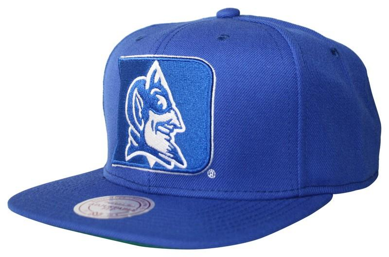 Mitchell and Ness Duke Blue Devils Blue Wool Solid Snapback 3dca124d91e9