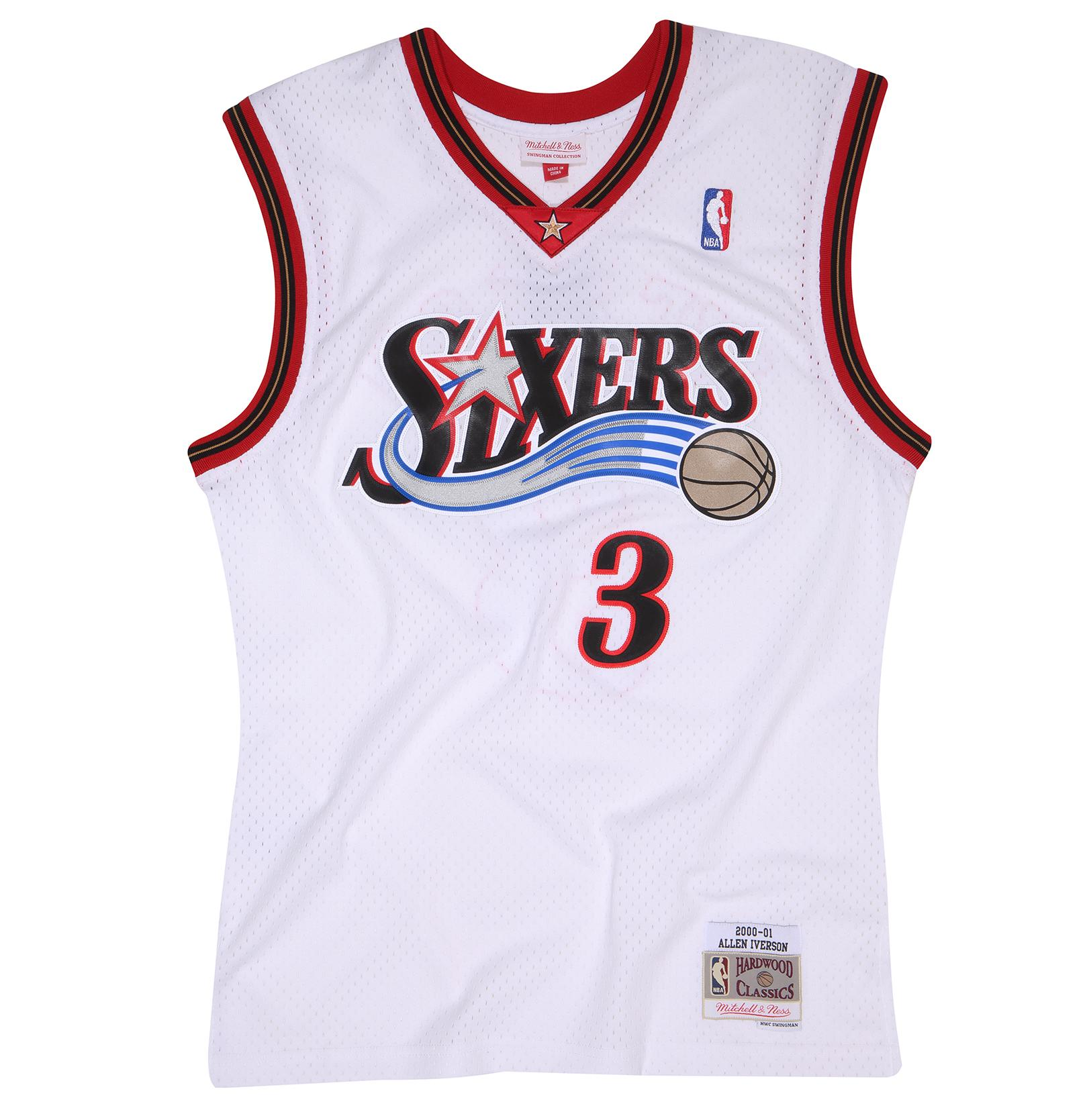 4e3faf34d ... Iverson 2000-2001 Home Swingman Jersey Our Price  £90.00 ...