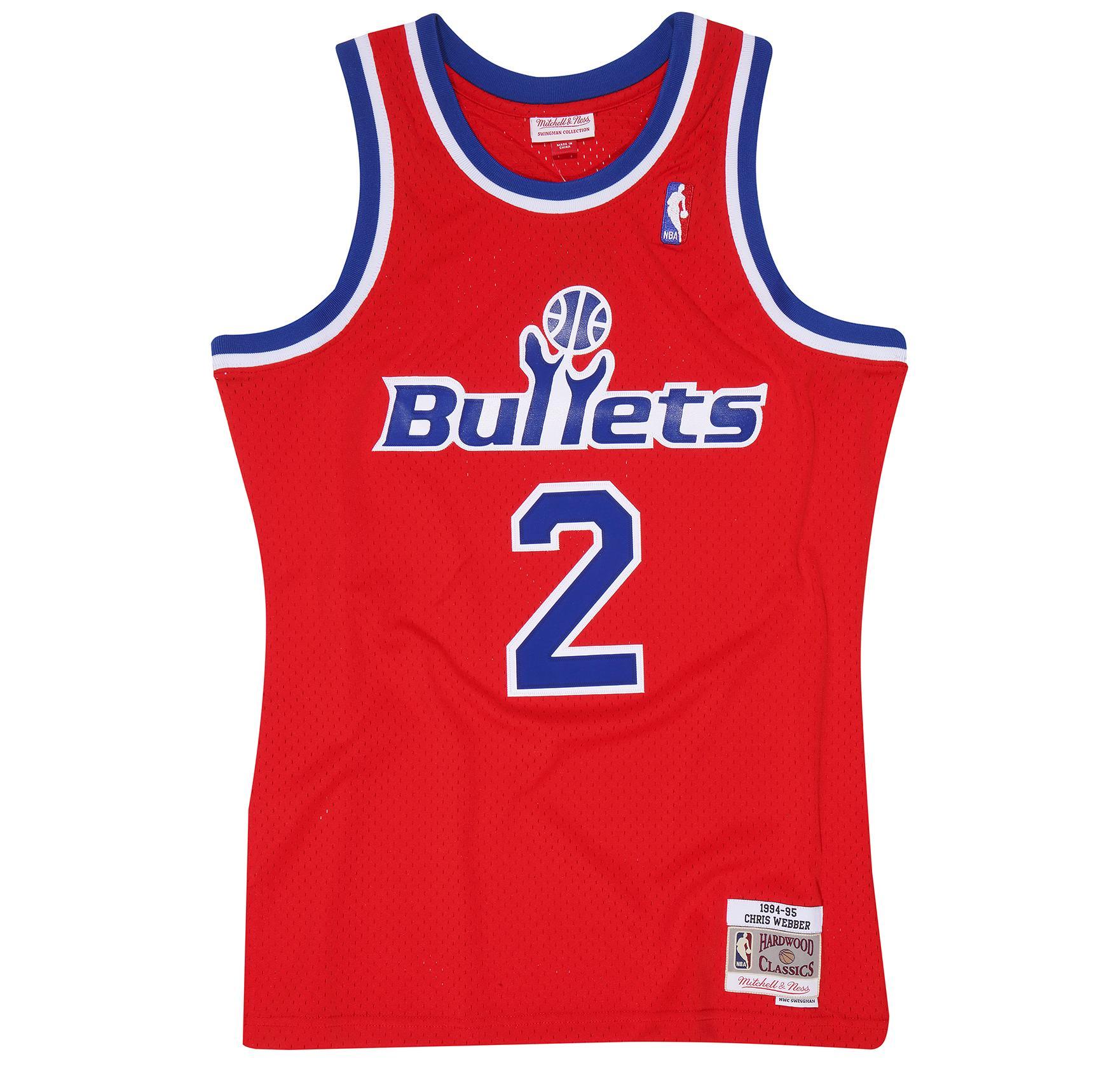 Chris Webber 1994-95 Road Swingman Jersey Washington Bullets £90.00 a85e1ff20