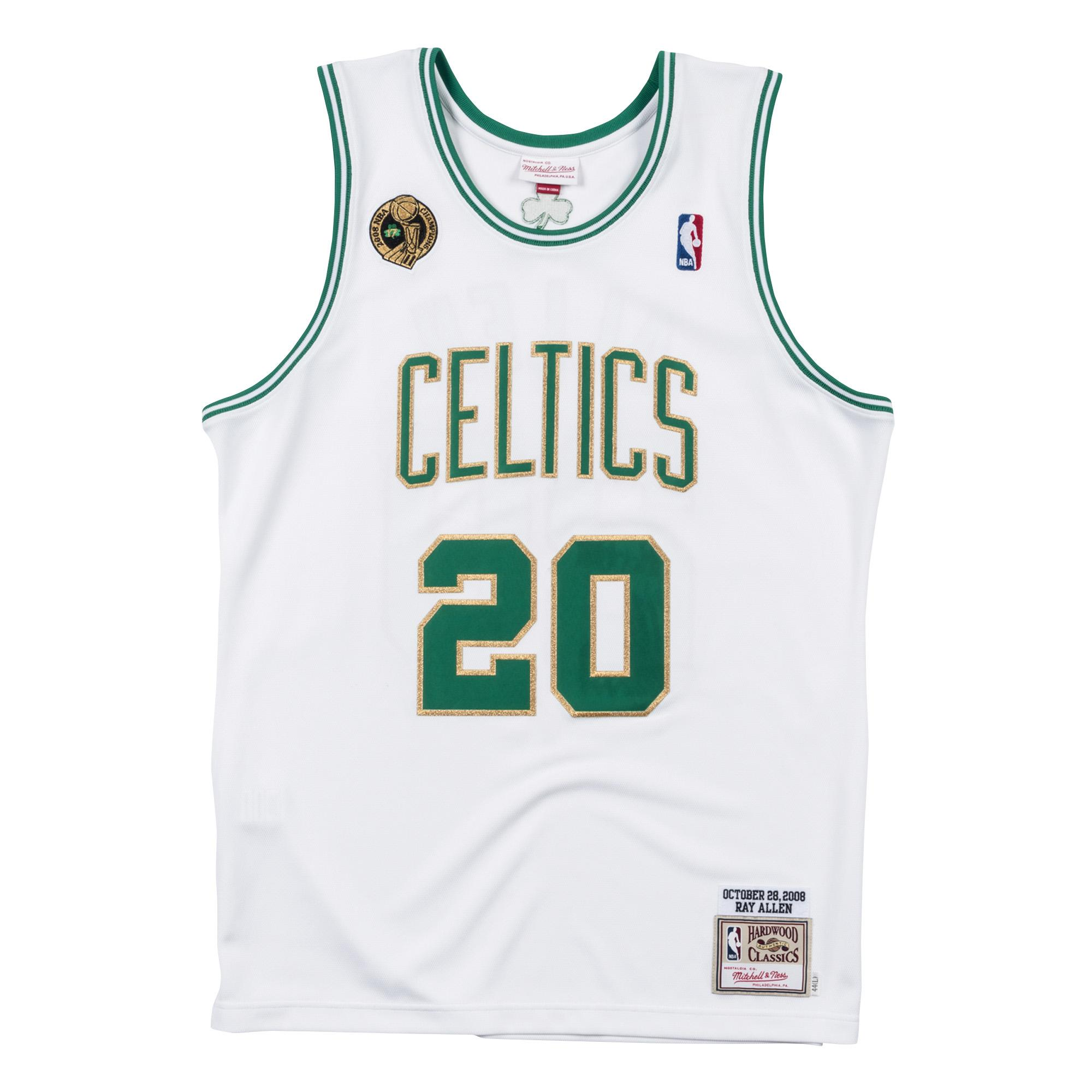 5b85e84c80d Ray Allen 2008-09 Home Authentic Jersey Our Price  £200.00 Alonzo Mourning  Road ...