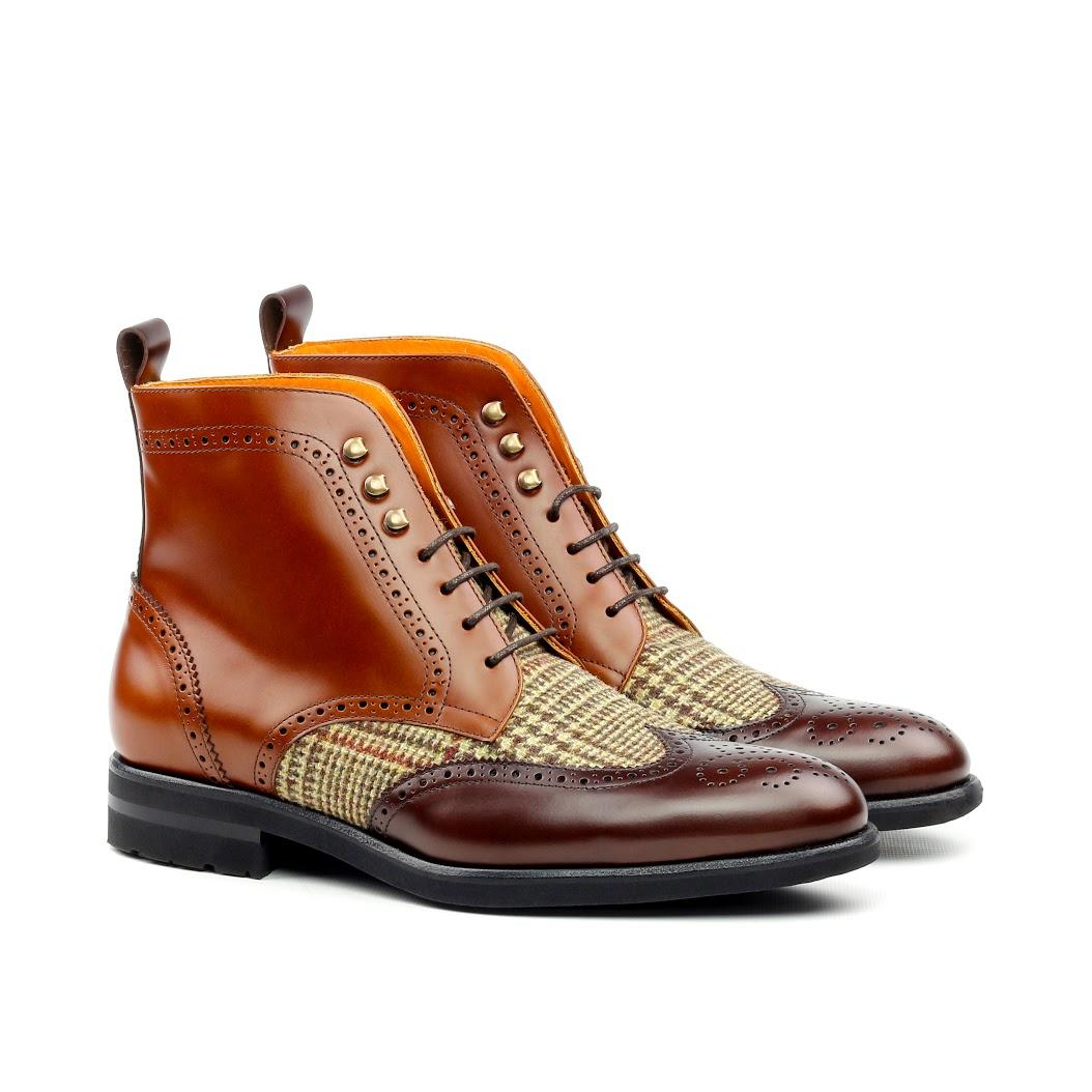 Manor Of London Military Brogue Boots