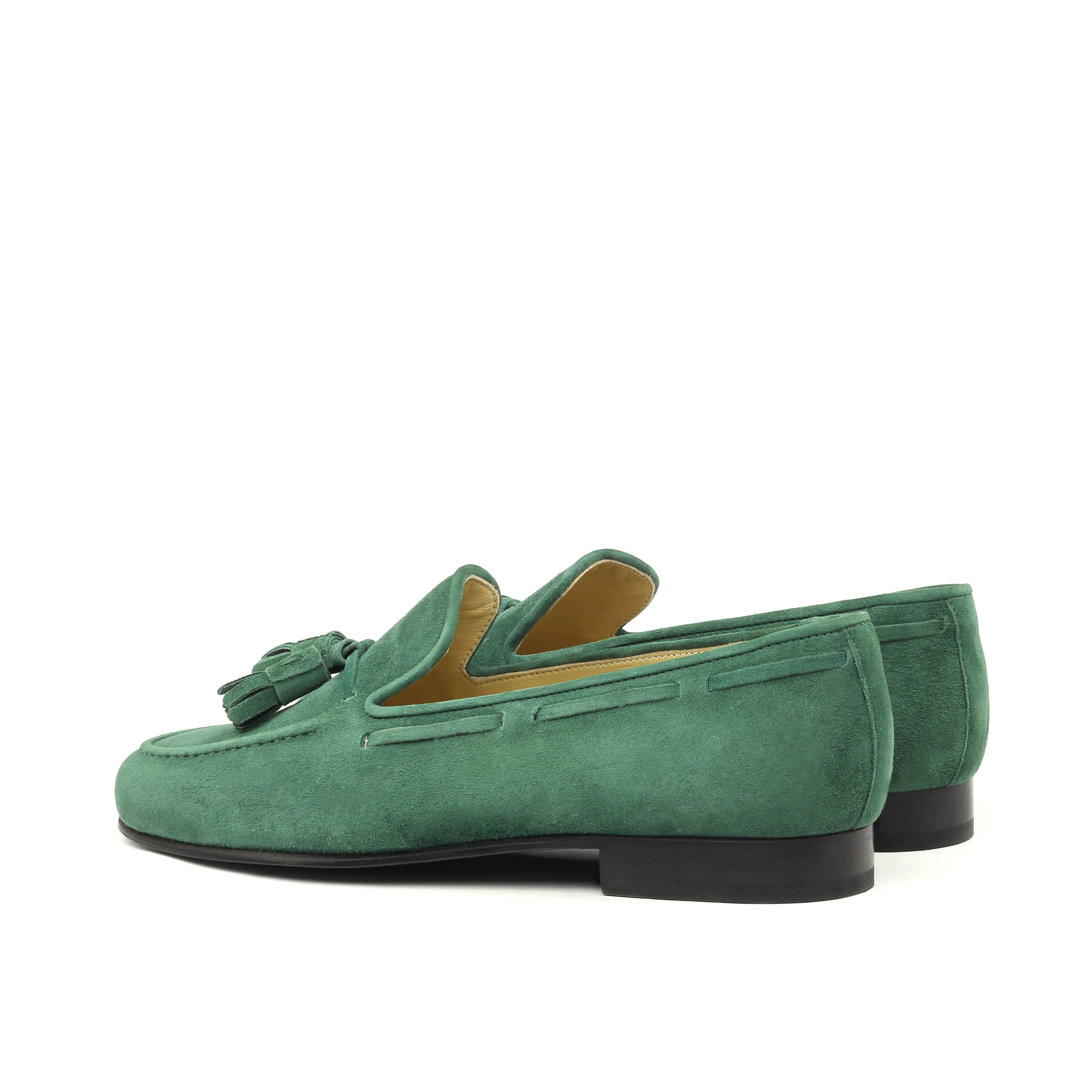 40e421a1dce Dark Green Suede Tassel Loafers. Manor of London