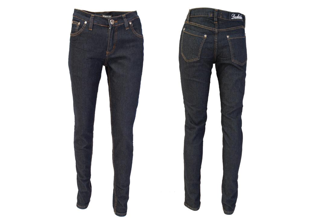 Darkside Clothing | Indigo/Dark Blue Skinny Jeans Goth Emo Punk