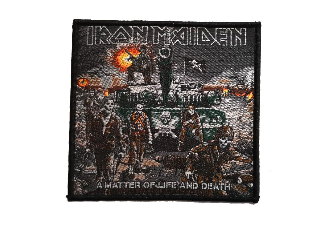 Official Band Merch | Iron Maiden - A Matter Of Life And Death Tank Woven Patch