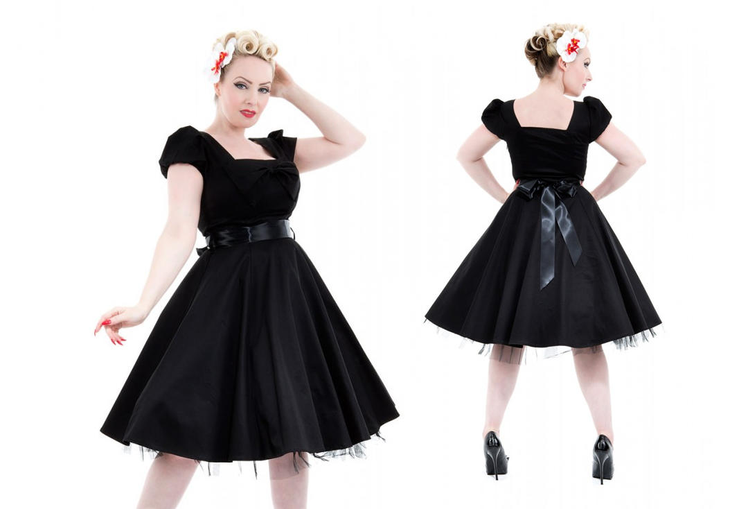 Hearts & Roses | Plain Black 6655 Bow Dress