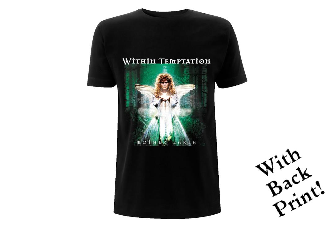 Official Band Merch | Within Temptation - Mother Earth Tracks Men's Official Short Sleeve T-Shirt - Front