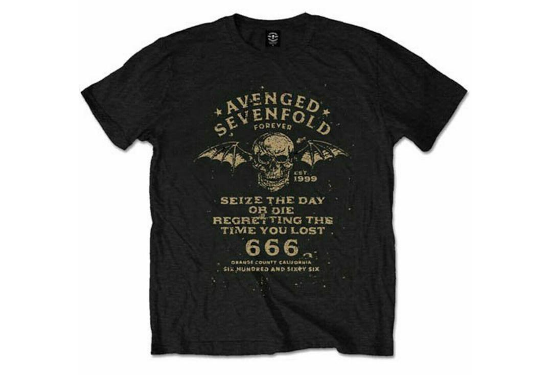 Official Band Merch | Avenged Sevenfold - Seize The Day AX7 Official Men's Short Sleeve Men's Tee