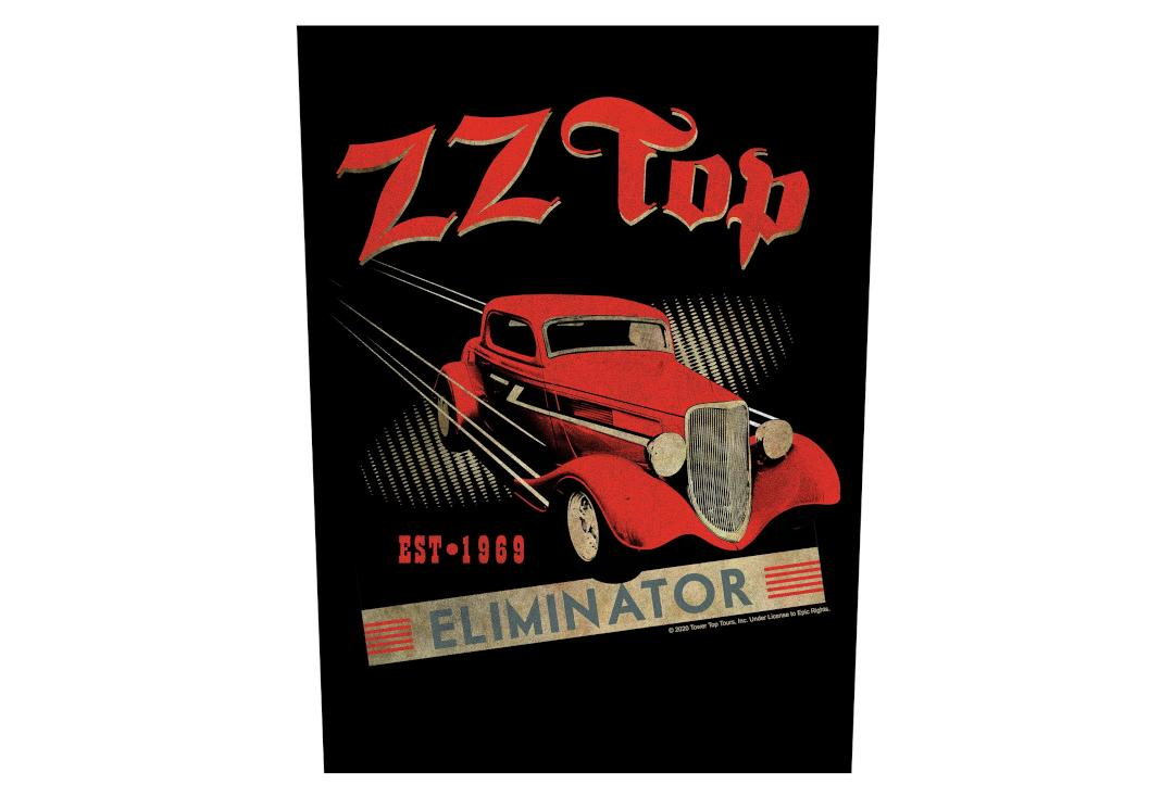 Official Band Merch | ZZ Top - Eliminator Printed Back Patch