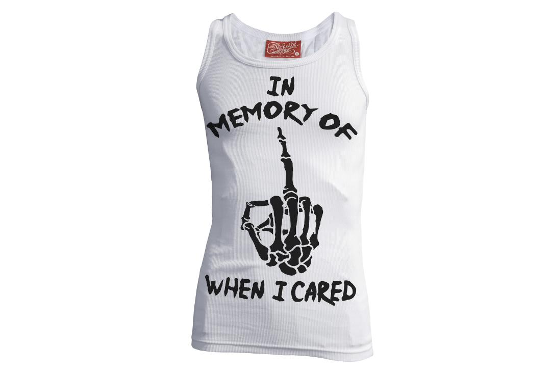 Darkside Clothing |  In Memory Of When I Cared White Unisex Beater Vest