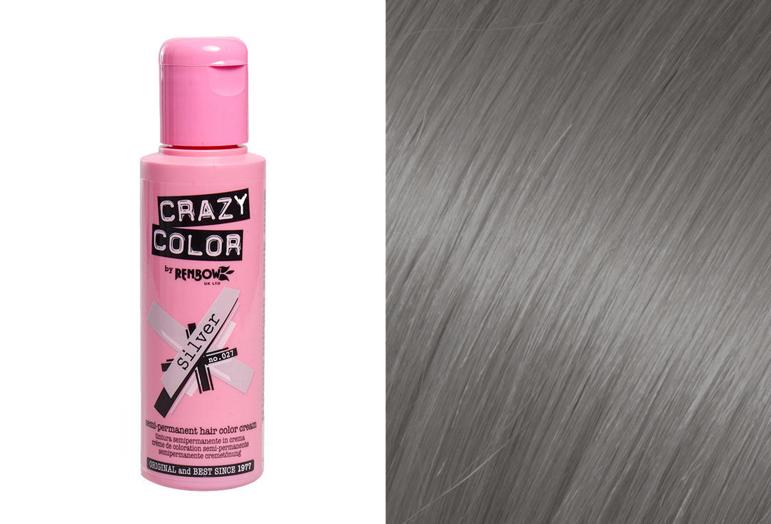 Renbow | Crazy Color Semi-Permanent Hair Colour (027 Silver)