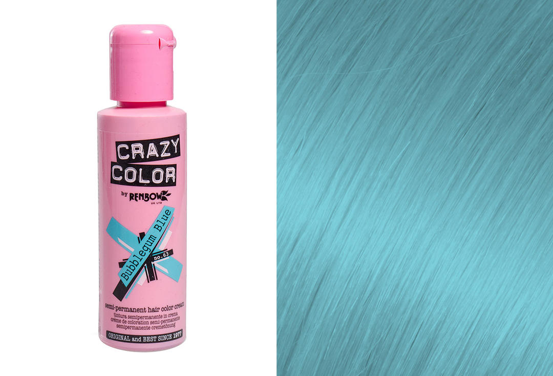 Renbow | Crazy Color Semi-Permanent Hair Colour (063 Bubblegum Blue)