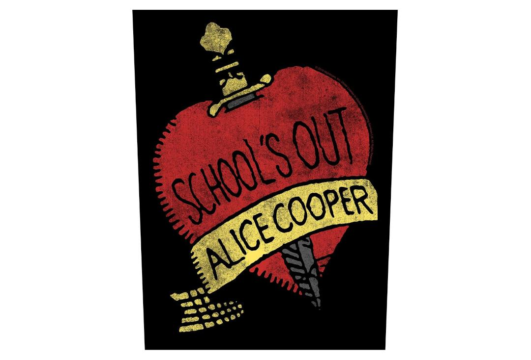 Official Band Merch | Alice Cooper - School's Out Printed Back Patch