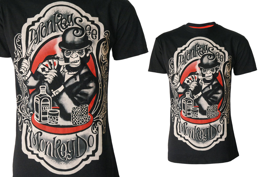 Darkside | Monkey See Black Short Sleeved Men's T-Shirt