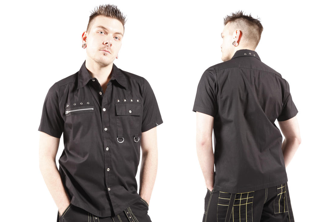 Dead Threads | Stud Detail Short Sleeve 9522 Shirt - Back