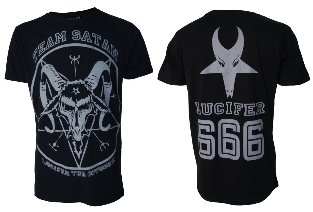 Darkside | Satan Goat Head Short Sleeve Men's Tee - Front & Back