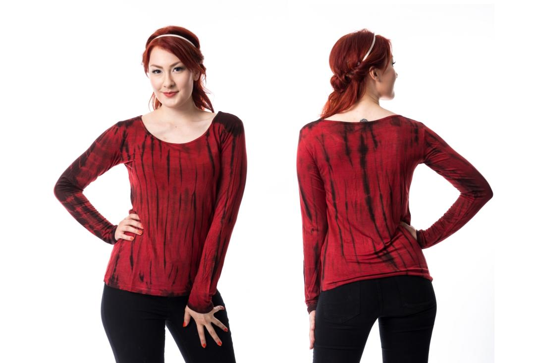 Innocent Lifestyle | Red Tye Long Sleeve Top