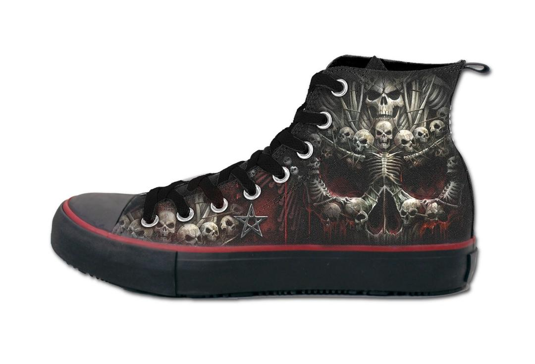 Death Bones Men's Spiral Lace Up High Top Sneakers