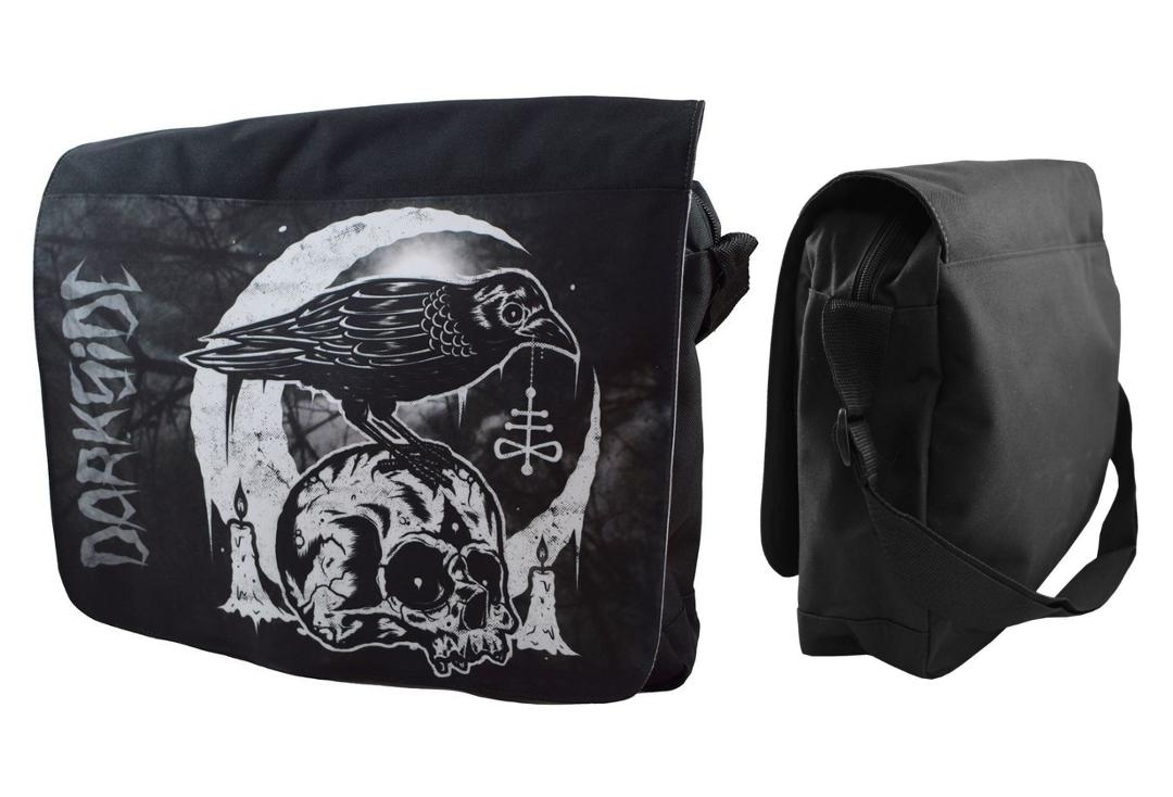Darkside | Skull Crow Messenger Bag - Front & Side View