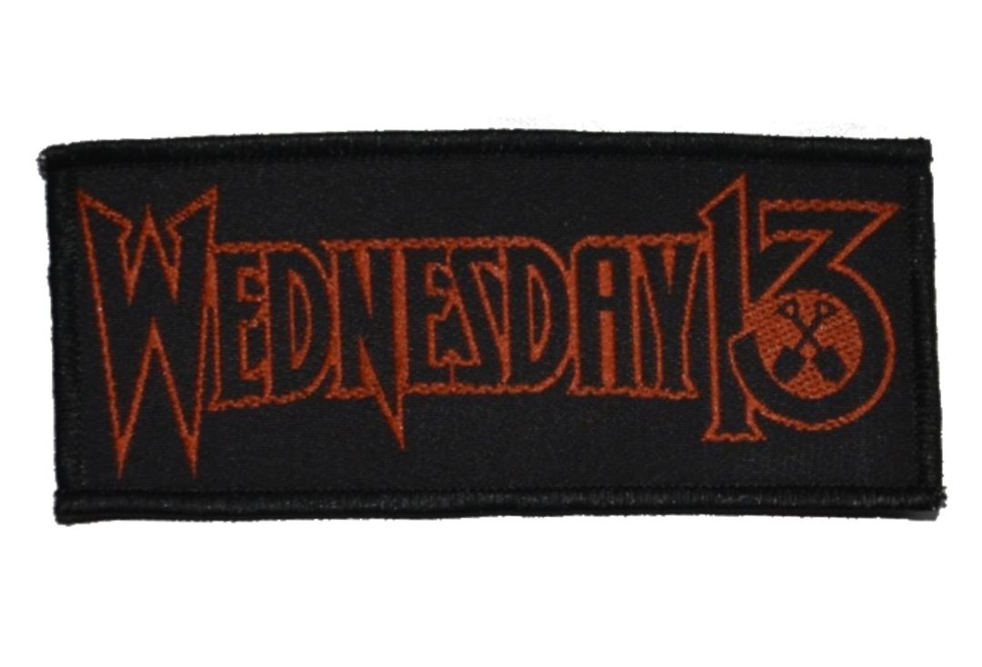 Official Band Merch | Wednesday 13 - Logo Woven Sew On Patch