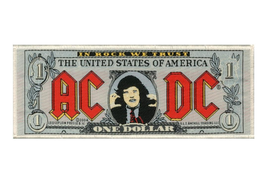AC/DC | Bank Note Woven Super Strip Patch