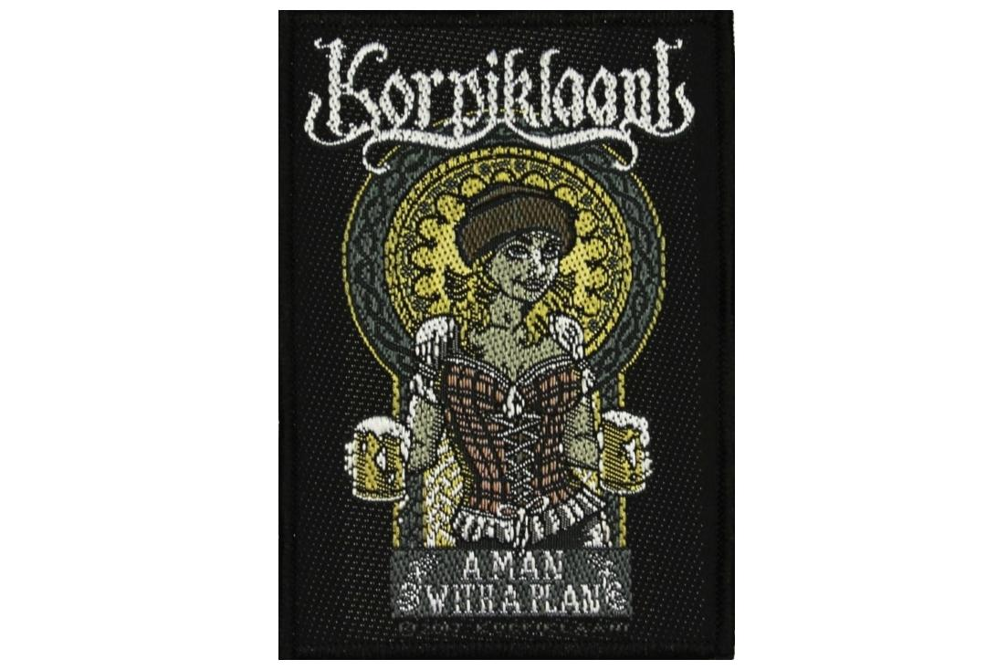 Official Band Merch | Korpiklaani - A Man With A Plan Woven Patch