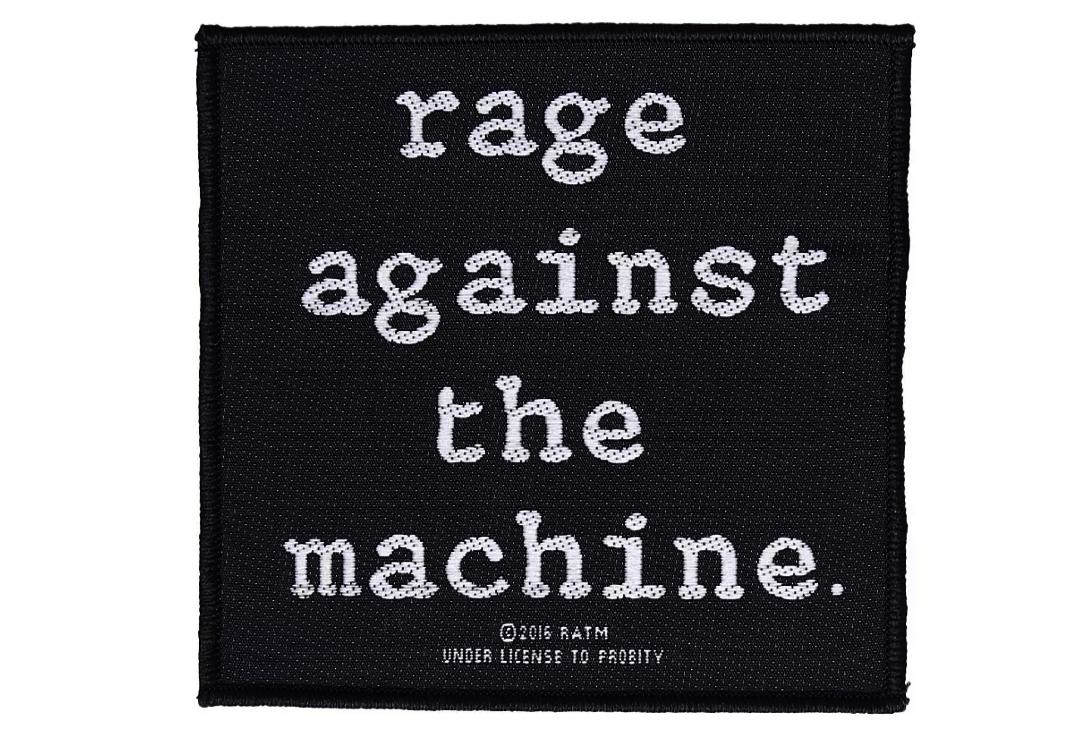 Official Band Merch | Rage Against The Machine - Logo Woven Sew On Patch
