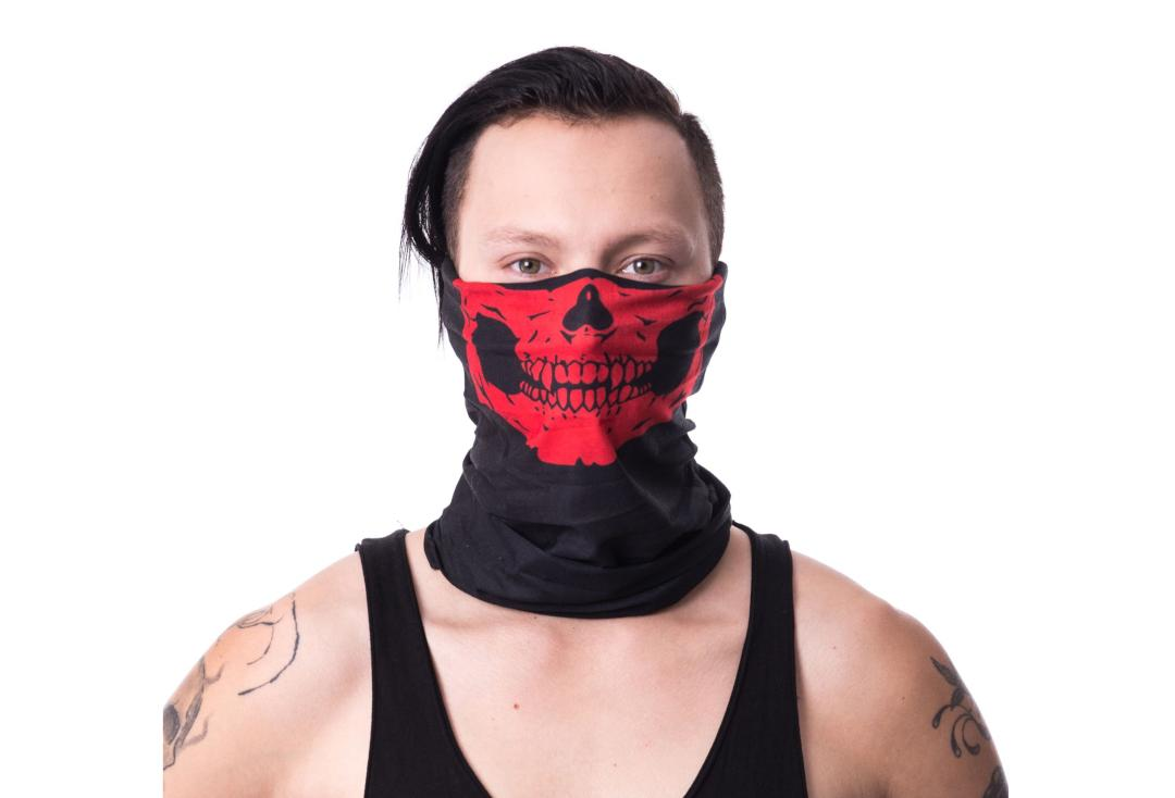 Poizen Industries | Red Skull 4-In-1 Snood - Main