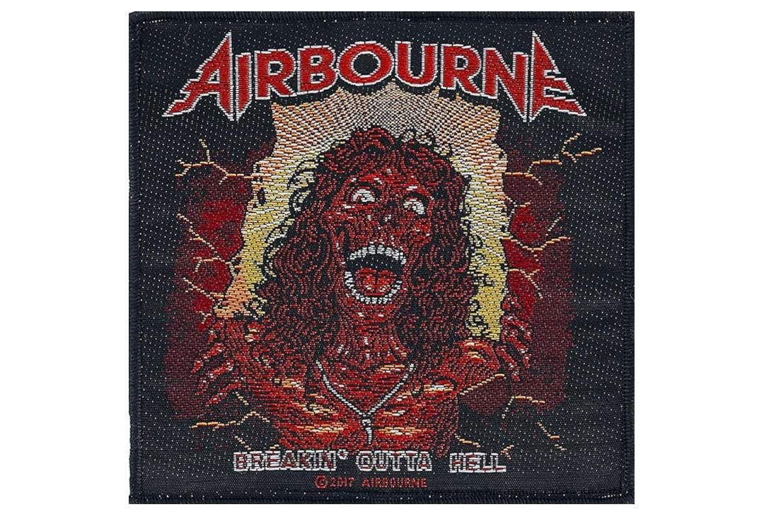 Official Band Merch | Airbourne - Breakin' Outta Hell Woven Patch