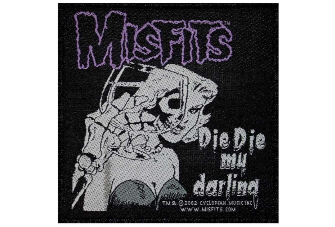 Official Band Merch | Misfits - Die DIe My Darling Woven Patch