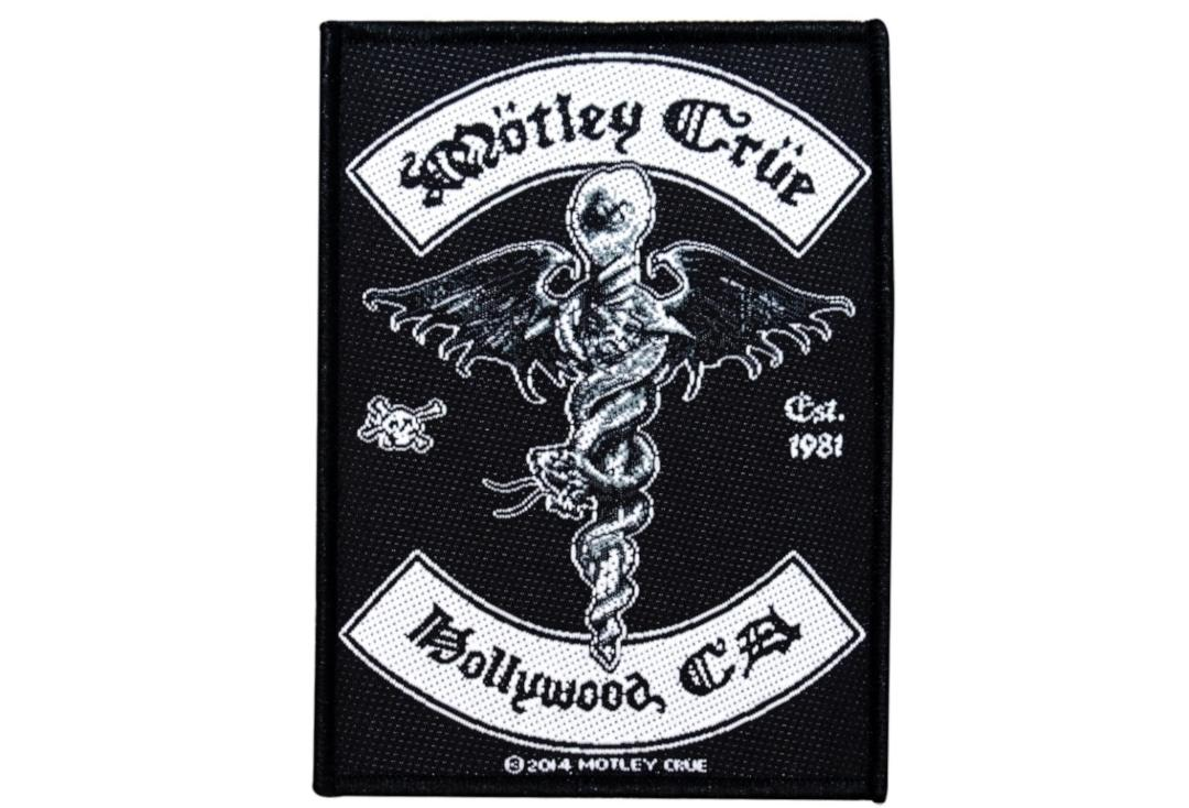 Official Band Merch | Motley Crue - Hollywood CA Woven Patch