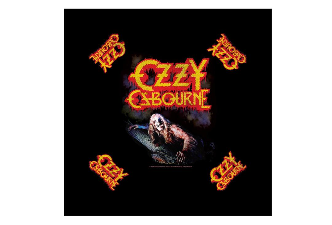 Official Band Merch | Ozzy Osbourne - Bark At The Moon Official Bandana