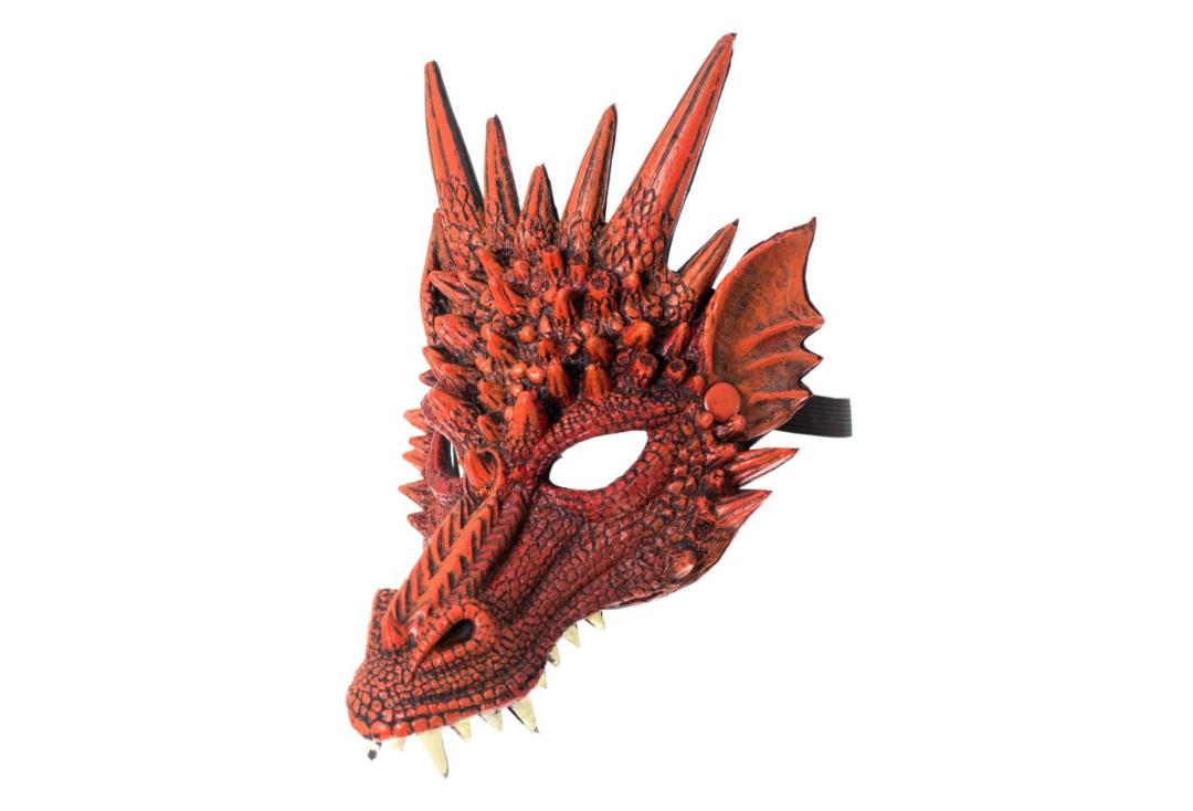 Void | Red Dragon Half Face Mask - Side View