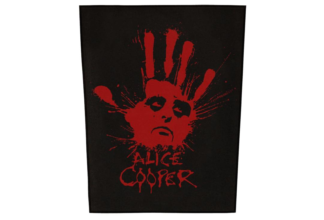 Official Band Merch | Alice Cooper - Splatter Hand Printed Back Patch