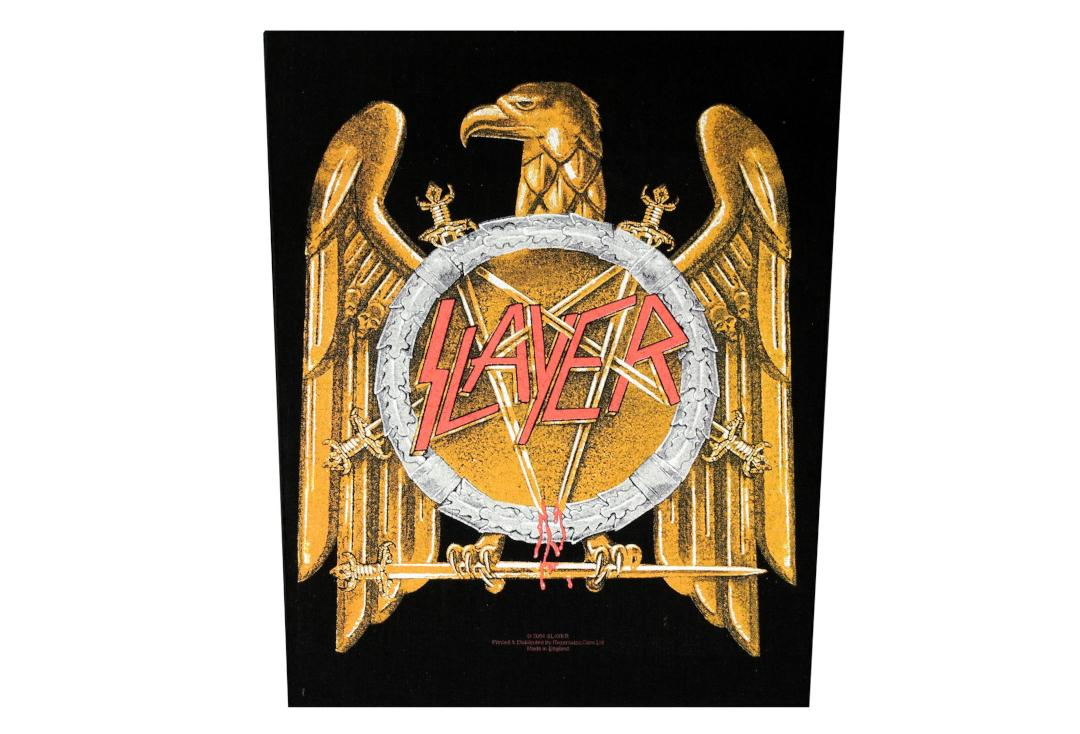 Official Band Merch | Slayer - Golden Eagle Printed Back Patch