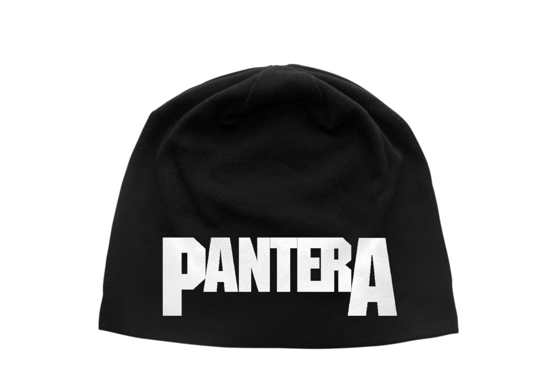 Official Band Merch | Pantera - Logo Discharge Printed Jersey Beanie