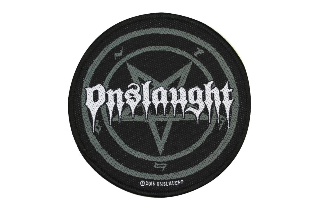 Official Band Merch | Onslaught - Pentagram Woven Patch