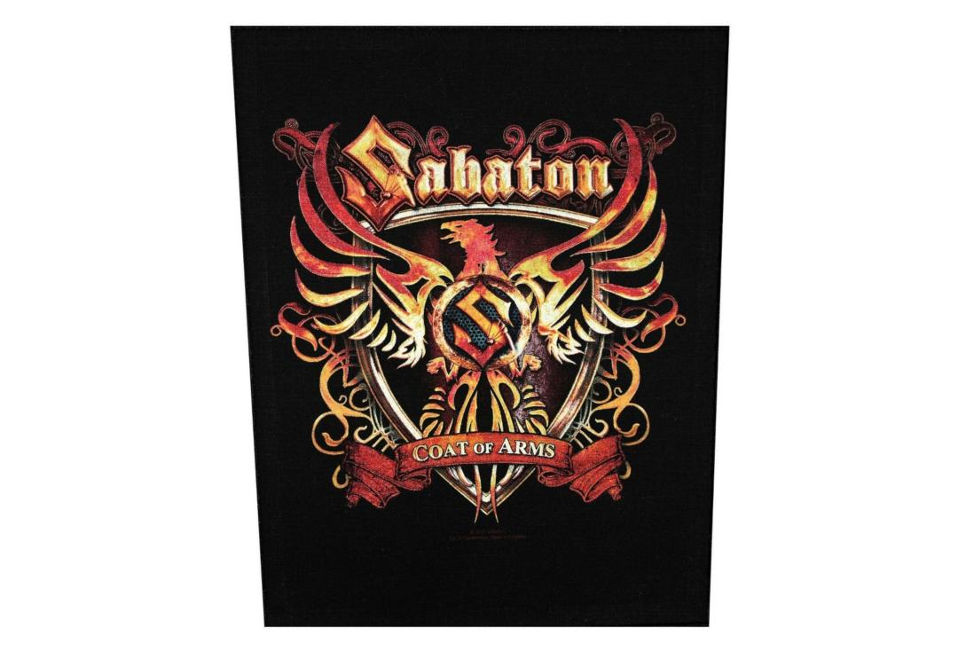 Official Band Merch | Sabaton - Coat Of Arms Printed Back Patch