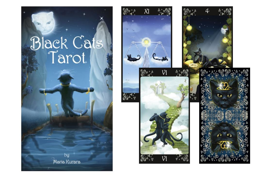 Lo Scarabeo | Black Cats Tarot Cards
