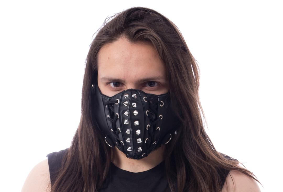 Poizen Industries | Chaos Lace Up Studded Face Mask