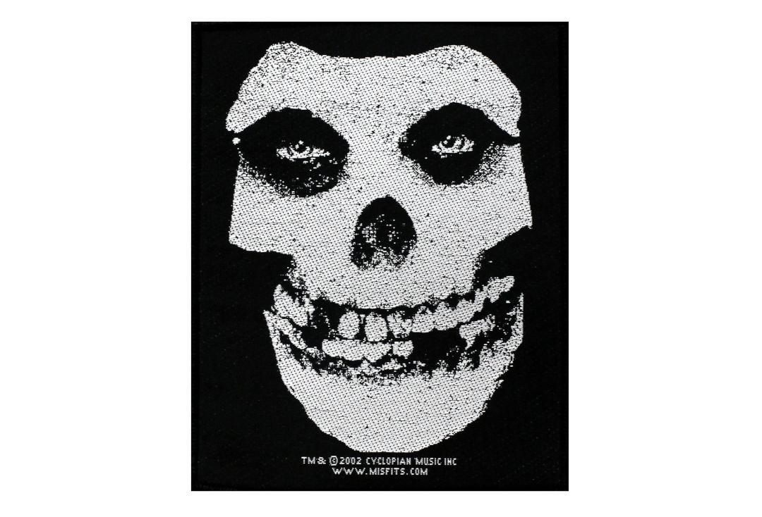 Official Band Merch | Misfits - White Skull Woven Patch