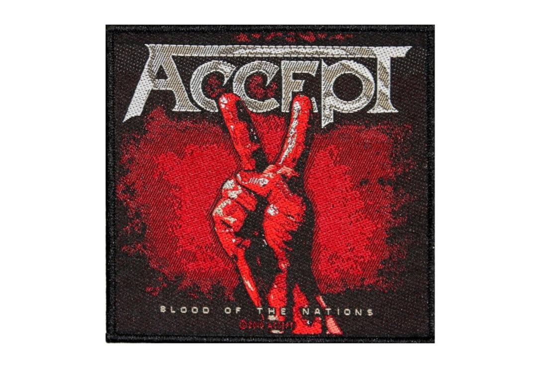Official Band Merch | Accept - Blood Of The Nations Woven Patch